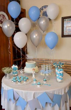 Baby Boy Baptism Decorations Simple New Ideas Baby Shower Favors Girl, Boy Baby Shower Themes, Baby Shower Printables, Baby Shower Parties, Baby Boy Shower, Baptism Decorations, Birthday Party Decorations, Birthday Parties, Baby Boy Baptism