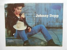 Johnny Depp New Kids on The Block Poster from Greek Mags clippings 1970s 1990s   eBay