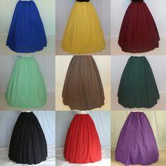 Renaissance Costume Skirt - Custom Color Skirt - Civil War Skirt - Peasant Skirt - Halloween Costume. $32.00, via Etsy.