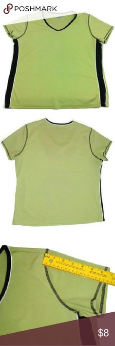 "Quick Dry Green T shirt ~ Gym Top Excellent Condition. No stains, no flaws.  Color: Green Size: L.   Measurements lying flat: Shoulder to Shoulder ? 14.5"", Armpit to Armpit - 21"", Sleeve Length ?6.5"", Shirt Length - 23""  Please, review the photos. You will get the items shown. Contact me, if you have any questions. SB Tops Tees - Short Sleeve"