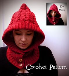 Awesome crochet hood. I love her patterns! Want!