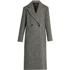 Weekend Max Mara Latina coat (11.686.910 IDR) ❤ liked on Polyvore featuring outerwear, coats, black white, herringbone coat, wool-blend coat, weekend max mara coat, oversized coat and double breasted coat