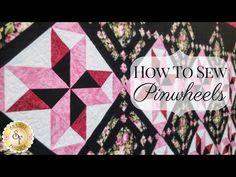 How to Sew Pinwheels | Shabby Fabrics - YouTube