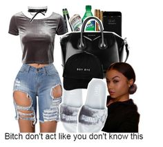 """""""Boy bye [school mood]"""" by avi-ajhanae ❤ liked on Polyvore featuring Glamorous, Puma, Fallon and Givenchy"""