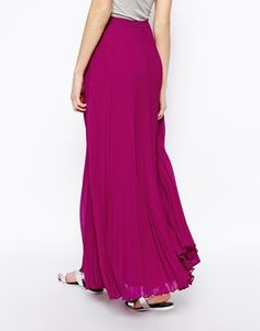 Image 2 of ASOS Pleated Maxi Skirt