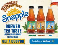 Print A Coupon A Free Snapple® Straight Up™ Tea With Purchase #teastraightup #ad #Cbias