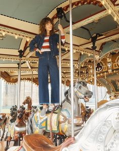 332804cd70 madewell x karen walker blazar zip wide-leg jeans worn with madewell x  karen walker