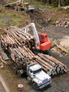 """Swamp Logger"" Mack RD600 Logging Truck"