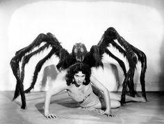 Spider Woman Sci Fi Monster Movie by sweetheartsinner Sci Fi Horror, Arte Horror, Horror Films, Horror Art, Weird Vintage, Vintage Horror, Vintage Black, Vintage Ladies, Creepy Photos