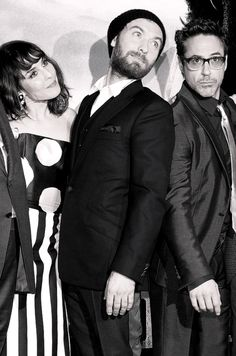 """Noomi Rapace, Jude Law and Robert Downey Jr. at the premiere of """"Sherlock Holmes: A Game of Shadows"""" (2011)"""