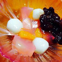 自作の白玉&フルーツ寒天で作った白玉あんみつ♡程よい甘さで美味しかったです( ॢꈍ૩ꈍ) ॢ - 10件のもぐもぐ - 白玉あんみつ♡ by しゅりんぷ