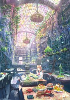 Anime fantasy world Fantasy Places, Fantasy World, Fantasy Art, Anime Fantasy, Tattoo Fe, Art Manga, Manga Anime, Anime Kunst, Fantasy Landscape