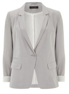 Blazer boyfriend gris - Vestes & Manteaux - Vêtements