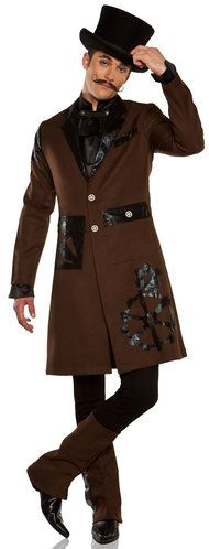 Steampunk:  Full Steam Ahead Steampunk Captain Costume.