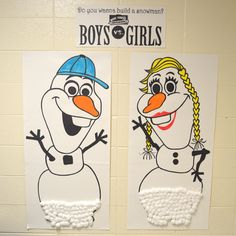 Winter Box Top Contest. Building snowboys/girls...and the girls have the lead!