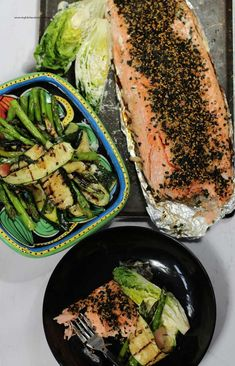 Salmon is so delicious with Japanese flavours. This guide will show you how to BBQ Salmon with pickled ginger and sesame. Baked Salmon, Salmon Bbq, Kewpie Mayonnaise, Pickled Ginger, Nigella Seeds, Zucchini Salad, Kitchen Stories, Fish And Seafood
