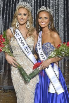 Miss Iowa USA and Miss Iowa Teen USA pageants are held in Newton each fall.  Pictured are the 2016 winners Alissa Morrison from Davenport, our current Miss and Hannah Bockhaus from Tripoli, our current Miss Teen!