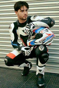 A collection of Guys In Sport Biker Leathers Motocross, Bike Leathers, Mens Leather Pants, Motorcycle Suit, Biker Boys, Biker Gear, Bike Rider, Men In Uniform, Attractive Men