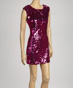 Take a look at this Magenta Shimmer Dress by Select Brands on #zulily today!