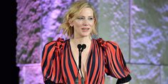 The Style Icon Award recipient made a bold, important statement about women's fashion at the InStyle Awards Cate Blanchett, Red Carpet Fashion, Looking For Women, Sexy Dresses, Actors & Actresses, Fashion News, Glamour, Womens Fashion, Awards 2017