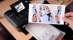 Canon SELPHY CP800 printing 8 photo collage