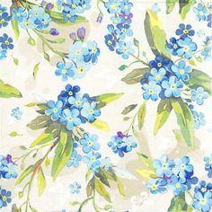 IHR Ideal Home Range Pack of 20 Light Blue Dinner Napkins Floral Poetry Flowers