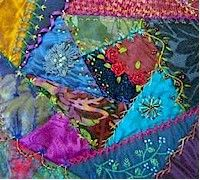 Crazy quilting..my first love in quilting... you get to work with wonderful fabric, fiber and beads... anything goes..