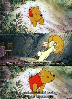 Pooh's got his priorities straight, all right ;) |Humor||LOL||Disney funny||Winnie the Pooh||Pooh Bear funny|