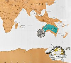 Scratch-off map for tracking your travels.  #Travel #HotTipsTravel