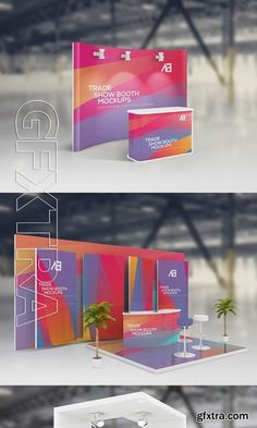 موك اب تجاري Trade Show Booth Mockups Vol2 Exhibition Stall, Exhibition Stand Design, Exhibition Display, Trade Show Booth Design, Display Design, Stand Modular, Expo Stand, Booth Decor, Ads Creative