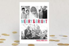 Merry & Bright Holiday Photo Cards by Up Up Creative at minted.com - also love blue/green