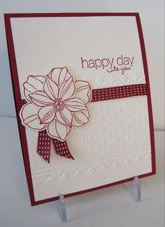 Raspberry Ripple,  Whisper White,  Framed Tulips and Perfect Polka dots embossing folders