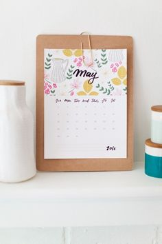 Monthly Free Printable Calendar - Here are 20 free printable 2016 calendars that you can print out and customize. Weekly, monthly and yearly calendars, cute calendars, food calendars.. a collection of free printable calendars for you to use.