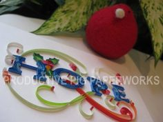 Christmas HOPE Handmade with Quilled Colored by ProductivePig, $60.00