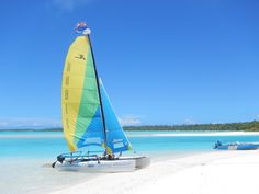 Spend the day sailing in paradise #pacificresort #cookislands #aitutaki #sail #paradise #holiday