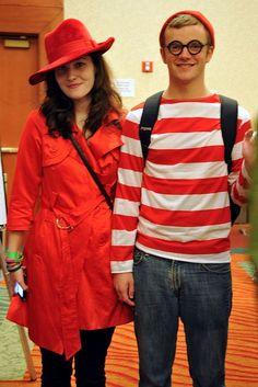 waldo carmen sandiego | cute DIY couples costume