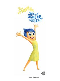 Joy from Disney Pixar's Inside Out invites you to embark on the animated journey with her, available on Disney Movies Anywhere on 10/13 and Blu-ray 11/3!