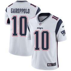Nike Patriots #10 Jimmy Garoppolo White Men's Stitched NFL Vapor Untouchable Limited Jersey