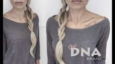 DNA Braid | Three Strand Fishtail Braid | Spiral Braid | Easy tutorial - YouTube