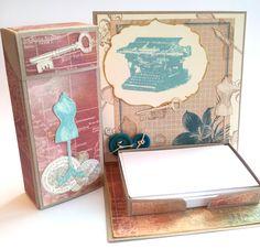 Kleine Abschiedsgeschenke - Easelcard-Notizzettelhalter, Flip-Top-Boxen, Knallbonbons - mit Stampin' Up!-Papieren-Stempeln-Vorlagen, Magnolia-Stempelmotiven - mehr dazu auf meinem Blog.
