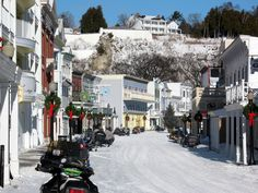 Visit the Island in the winter. Take a snow mobile ride or cross country ski through on the trails.