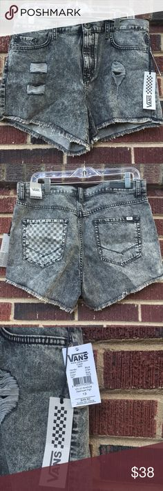 Vans high waist distressed Super cute and brand new with tags. Size 13, but fit is a bit small. Grey denim with distressed detail. High waist fit. Vans Jeans