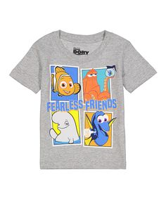2f974c1c79c Evy of California Heather Gray Finding Dory  Fearless Friends  Tee - Toddler