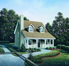 ePlans Cape Code House Plan – Country Appeal For A Small Lot– 1299 Square Feet and 3 Bedrooms from ePlans – House Plan Code HWEPL76185