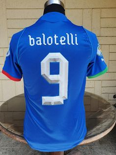 ITALY 2013 FIFA CONFEDERATIONS CUP 3RD PLACE MARIO BALOTELLI 9 HOME JERSEY MAGLIA CAMISETA SMALL / STYLE NUMBER: 740193 Vintage Jerseys, Football Jerseys, Fifa, Tees, Shirts, Mario, Italy, Number, Classic