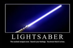 This is the weapon of a Jedi Knight. Not as clumsy or random as a blaster; an elegant weapon for a more civilized age. For over a thousand generations, the Jedi Knights were the guardians of peace and justice in the Old Republic. Before the dark times... before the Empire.
