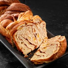 Cinnamon Swirl Raisin Bread, a recipe from the ATCO Blue Flame Kitchen's 2015 Holiday Collection cookbook. Bread Bun, Yeast Bread, No Bake Desserts, Dessert Recipes, Raisin Bread, Blue Flames, Instant Yeast, Recipe Box, Crackers