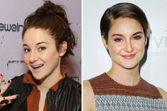 Shailene Woodley: often appeared on red carpets w/ long hair scraped back into ponytail or messy topknot; in October she chopped it all off & has been sporting sleek, short 'do