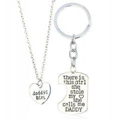 Daddy's Girl Necklace & Keyring Set