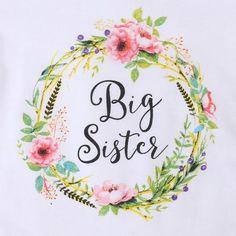 """Big Sister"" Floral T-Shirt - Girls"